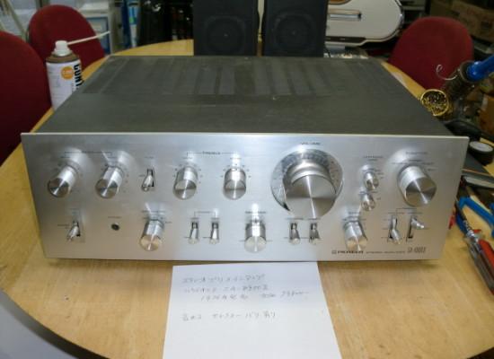 古いステレオアンプSA-8900Ⅱの修理