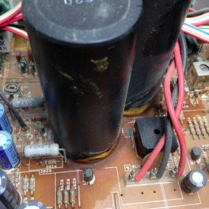 A-550電解コンデンサー付近