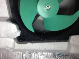 冷凍室のファン