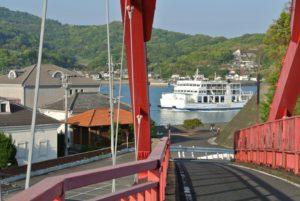 南蛮大橋と島鉄フェリー